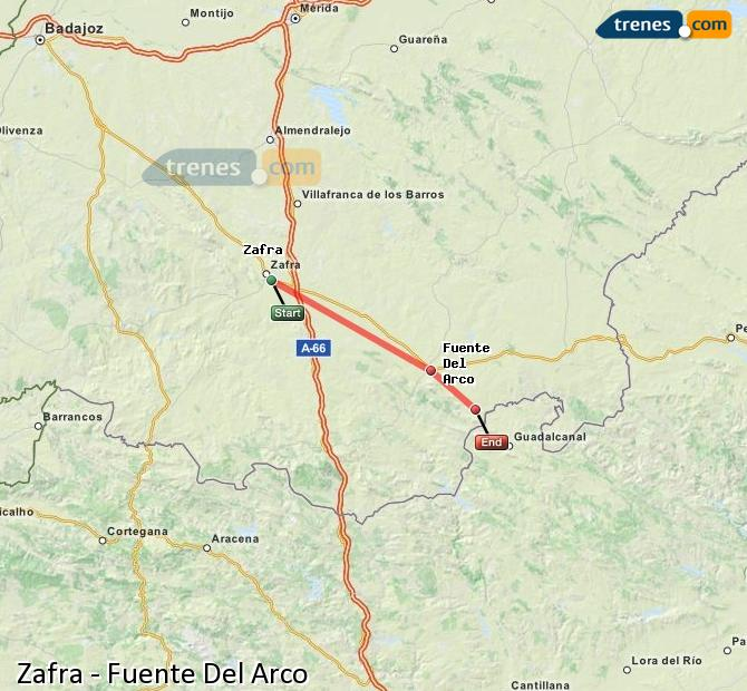 Enlarge map Trains Zafra to Fuente Del Arco
