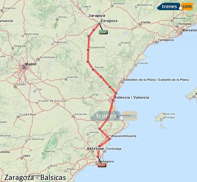 Ingrandisci la mappa Treni Zaragoza Balsicas