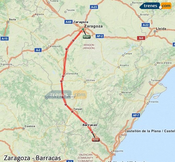 Ingrandisci la mappa Treni Zaragoza Barracas