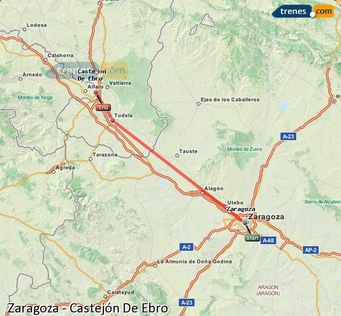 Ingrandisci la mappa Treni Zaragoza Castejón De Ebro