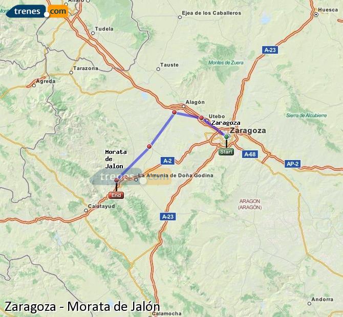 Ingrandisci la mappa Treni Zaragoza Morata de Jalón