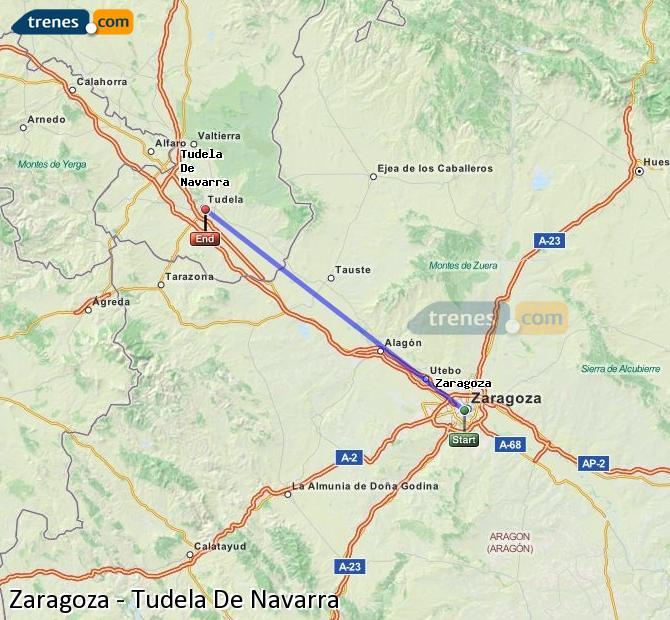 Ampliar mapa Trenes Zaragoza Tudela De Navarra