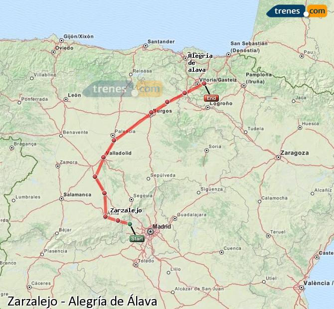 Ingrandisci la mappa Treni Zarzalejo Alegría de Álava
