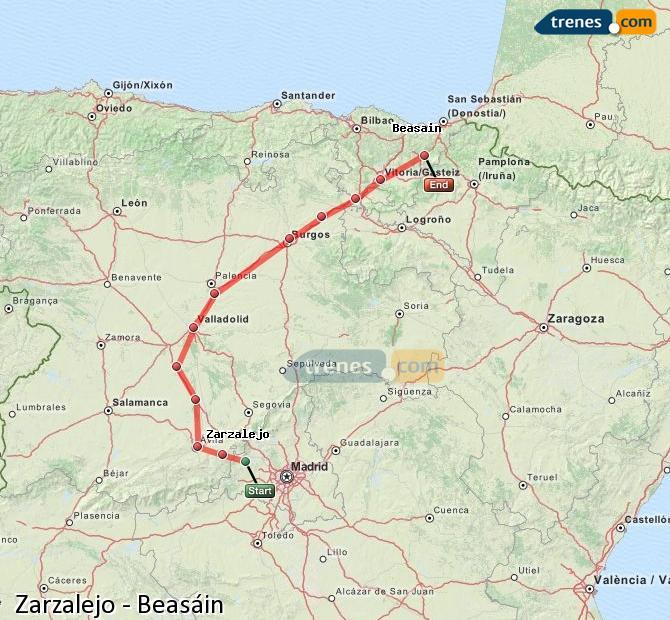 Ingrandisci la mappa Treni Zarzalejo Beasáin