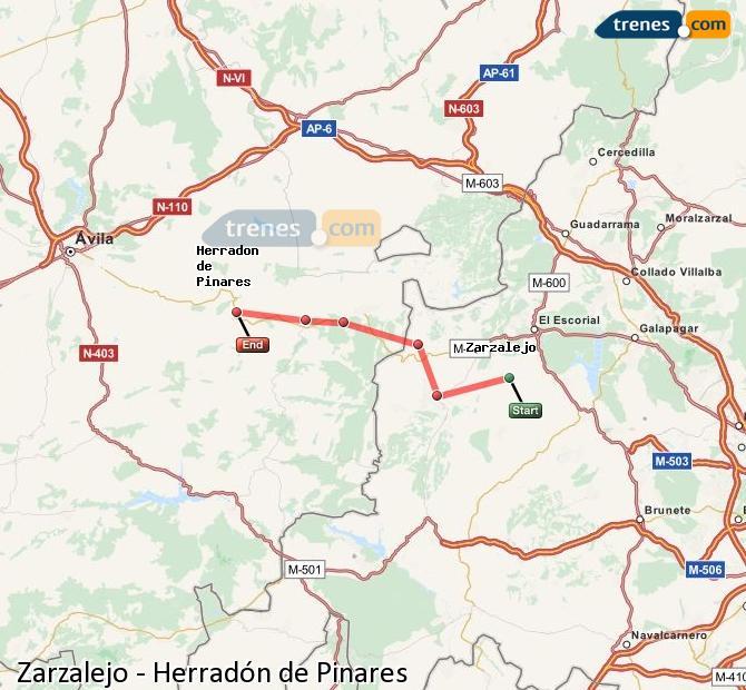 Ingrandisci la mappa Treni Zarzalejo Herradón de Pinares