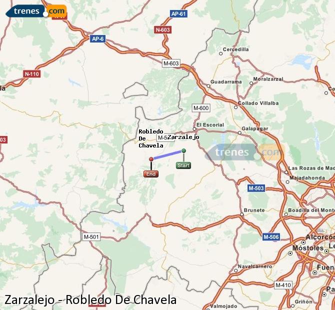 Karte vergrößern Züge Zarzalejo Robledo De Chavela