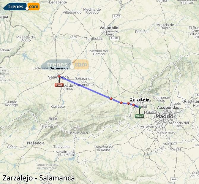 Karte vergrößern Züge Zarzalejo Salamanca