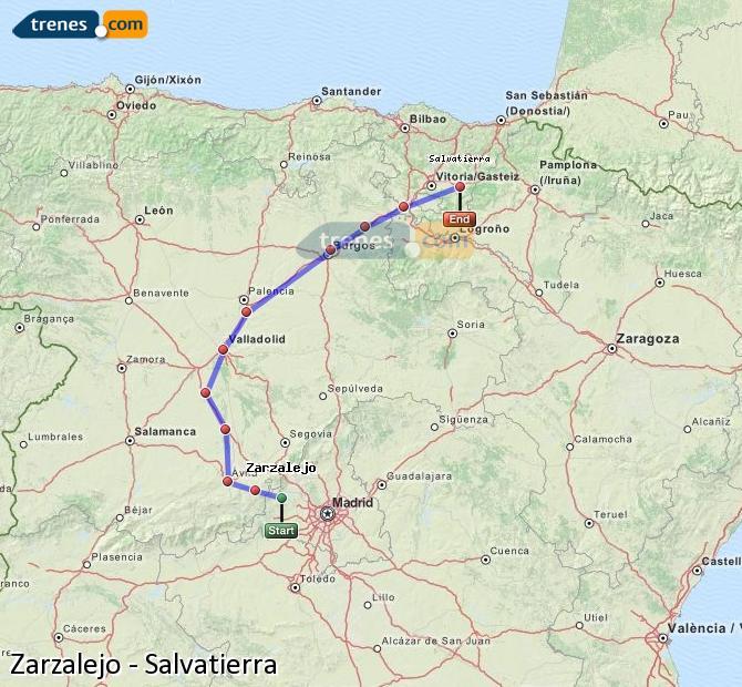 Ingrandisci la mappa Treni Zarzalejo Salvatierra